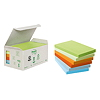 Post-it Haftnotiz Recycling Notes Pastel 6551GB 127x76mm 6 St./Pack.
