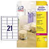 Avery Zweckform Etikett Crystal Clear L7782-25 525 St./Pack.