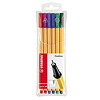STABILO Fineliner point 88 88/6 0,4mm farbig sortiert 6 St./Pack.