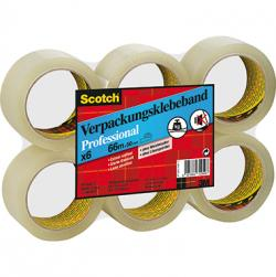Scotch Packband Professional 50mmx60m PP transparent 6 Rl./Pack.