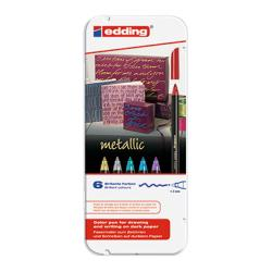 edding Fasermaler 1200 metallic color pen 4-1200-6 1-3mm 6 St./Pack