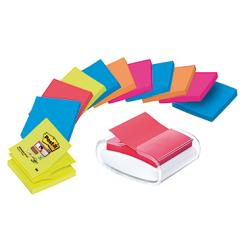 Post-it Haftnotizspender PRO-W12N ws +12xSuper Sticky Z-Notes sort.