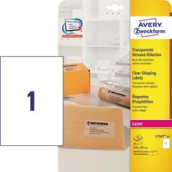 Avery Zweckform Adressetikett L7567-25 transparent 25 St./Pack.