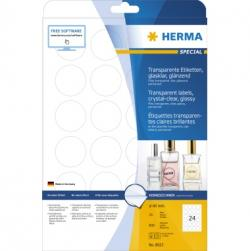 HERMA Folienetikett 8023 rund 40mm transparent 600 St./Pack.