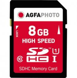 AgfaPhoto Speicherkarte SDHC 10425 High Speed Class 10 UHS-1 8GB