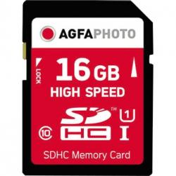 AgfaPhoto Speicherkarte SDHC 10426 High Speed Class 10 UHS-1 16GB