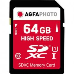 AgfaPhoto Speicherkarte SDXC 10428 High Speed Class 10 UHS-1 64GB