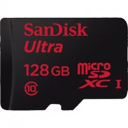SanDisk Speicherkarte Ultra Android SDSQUNC-128G-GN 128GB +Adapter/App