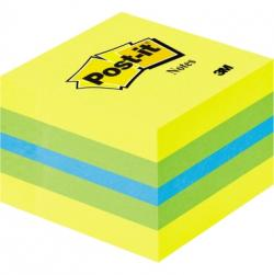 Post-it Haftnotizwürfel Mini 2051-L 51x40x51mm 400Bl. limone