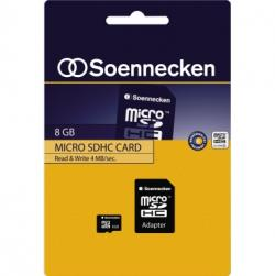 Soennecken Speicherkarte 71631 micro SDHC mit Adapter Class 4 8GB
