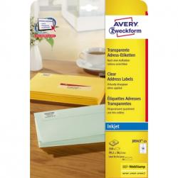 Avery Zweckform Etikett QuickPEEL J8563-25 transparent 350 St./Pack.