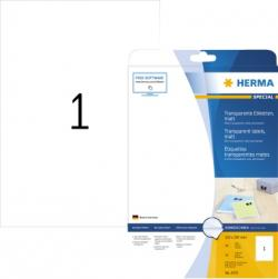 HERMA Folienetikett 4375 210x297mm transparent 25 St./Pack.