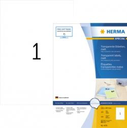 HERMA Etikett Special 4376 210x297mm transparent 100 St./Pack.