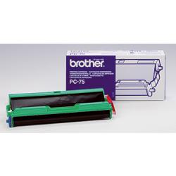BROTHER Thermotransferrolle PC75 für Fax T 102 144 S. schwarz